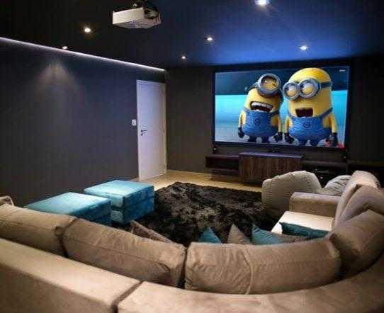 como montar uma sala de cinema em casa